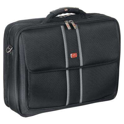 17 in. Double Compartment Black Laptop/Tablet Briefcase with RFID Secure Pocket