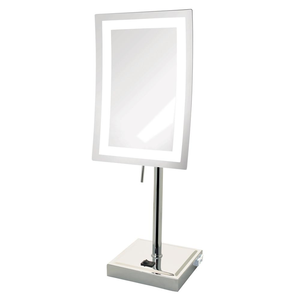 6.5 in. x 17 in. LED Lighted Table Mirror