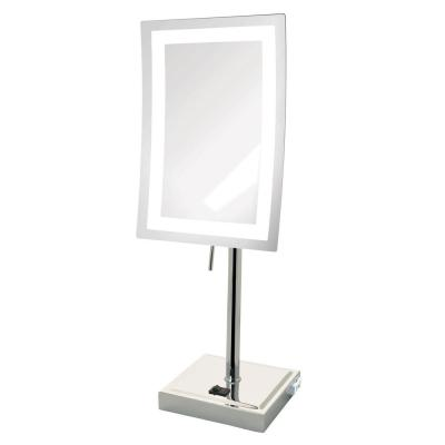 6.5 in. x 17 in. LED Lighted Table Makeup Mirror