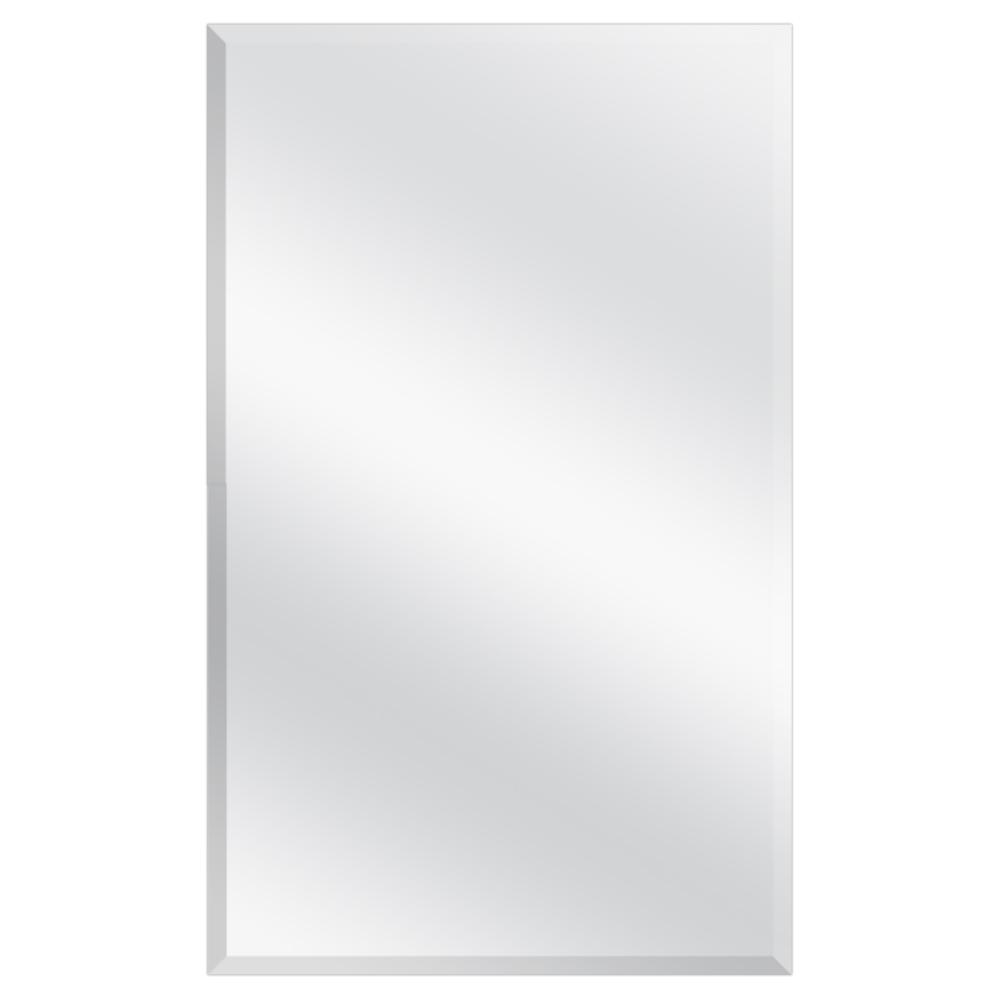 16 in. W x 26 in. H Frameless Recessed or Surface-Mount