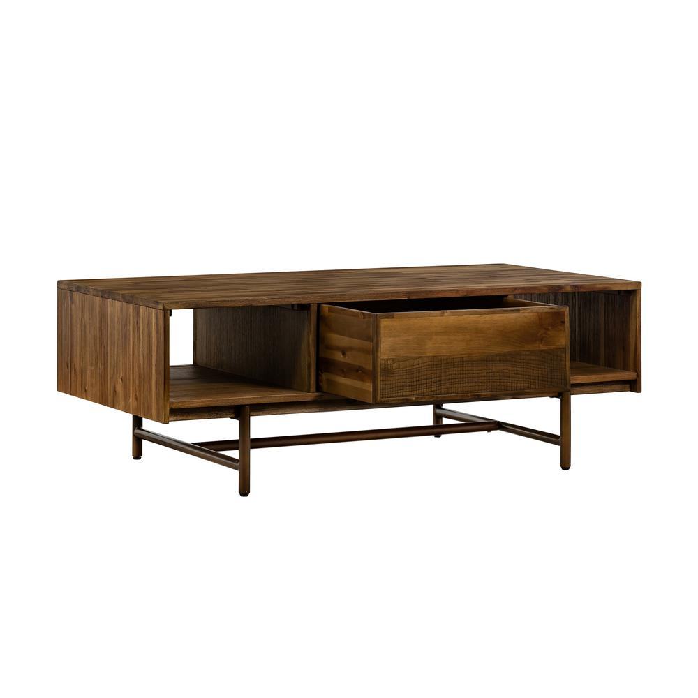 Groovy Armen Living Superb Rustic Oak Coffee Table With Drawer Machost Co Dining Chair Design Ideas Machostcouk