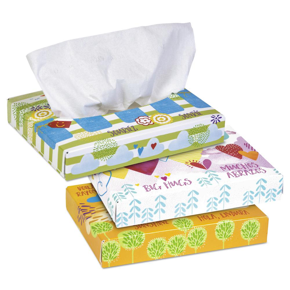 Junior Facial Tissue 2-Ply (40 Tissues/Box, 80 Boxes/Carton)