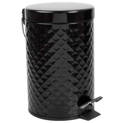 0.79 Gal. Black Textured Waste Bin