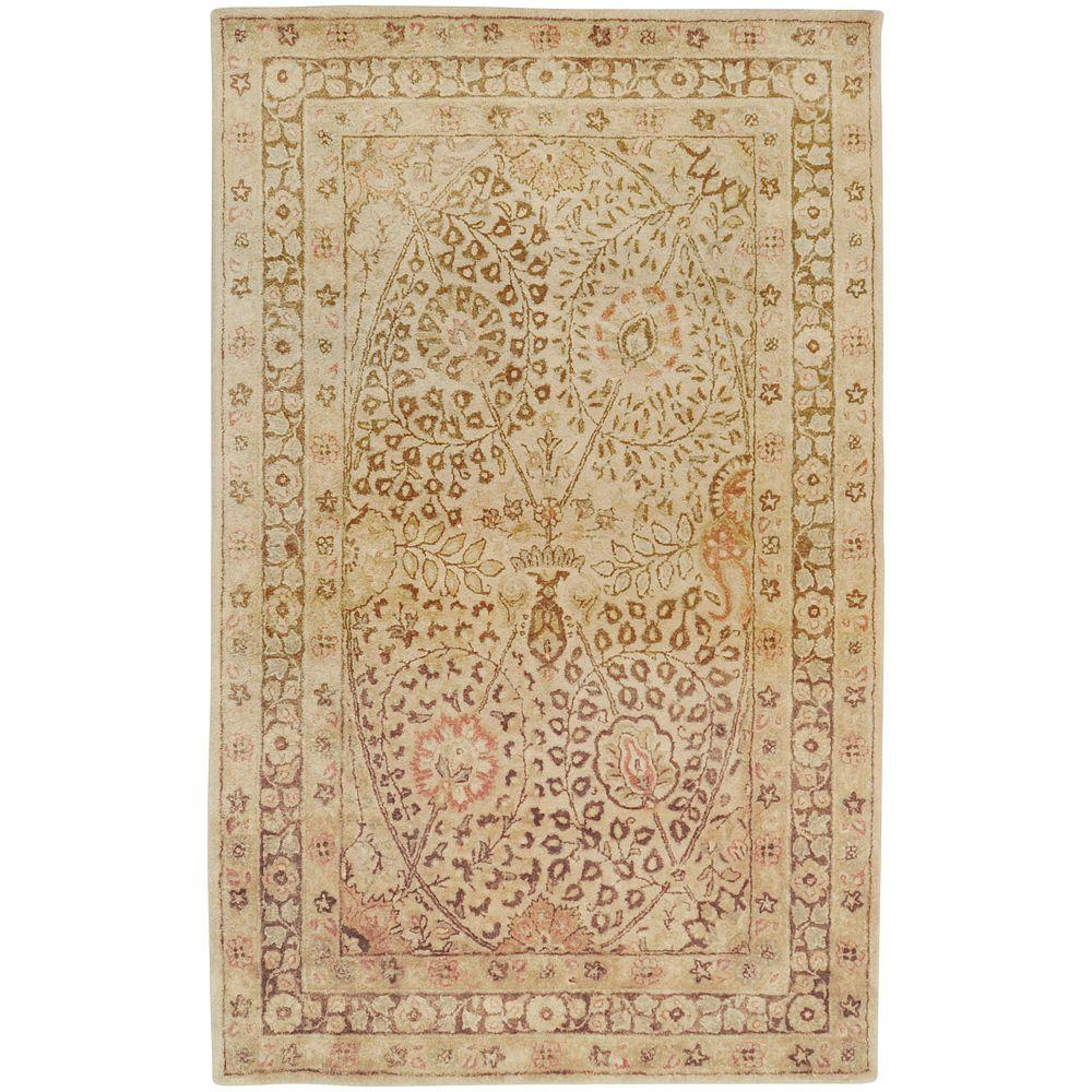 Borghese Cream 3 ft. 3 in. x 5 ft. 3 in.