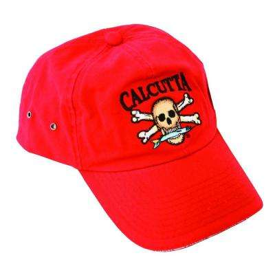 Adjustable Strap Low Profile Baseball Cap in Red with Fade-Resistant Logo
