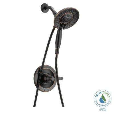 Porter In2ition 2-In-1 Single-Handle 5-Spray Shower Faucet in Oil Rubbed Bronze (Valve Included)