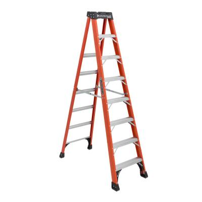 Louisville Ladder 6 Ft Fiberglass Twin Step Ladder With 300 Lbs Load Capacity Type Ia Duty Rating Fm1506 The Home Depot