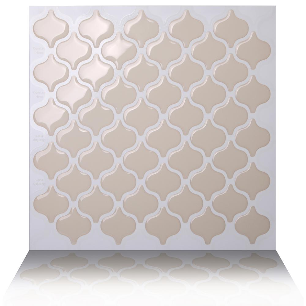 Tic Tac Tiles Damask Dolce 10 In W X H Beige L