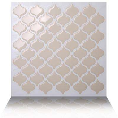 Damask Dolce 10 in. W x 10 in. H Peel and Stick Self-Adhesive Decorative Mosaic Wall Tile Backsplash (5-Tiles)