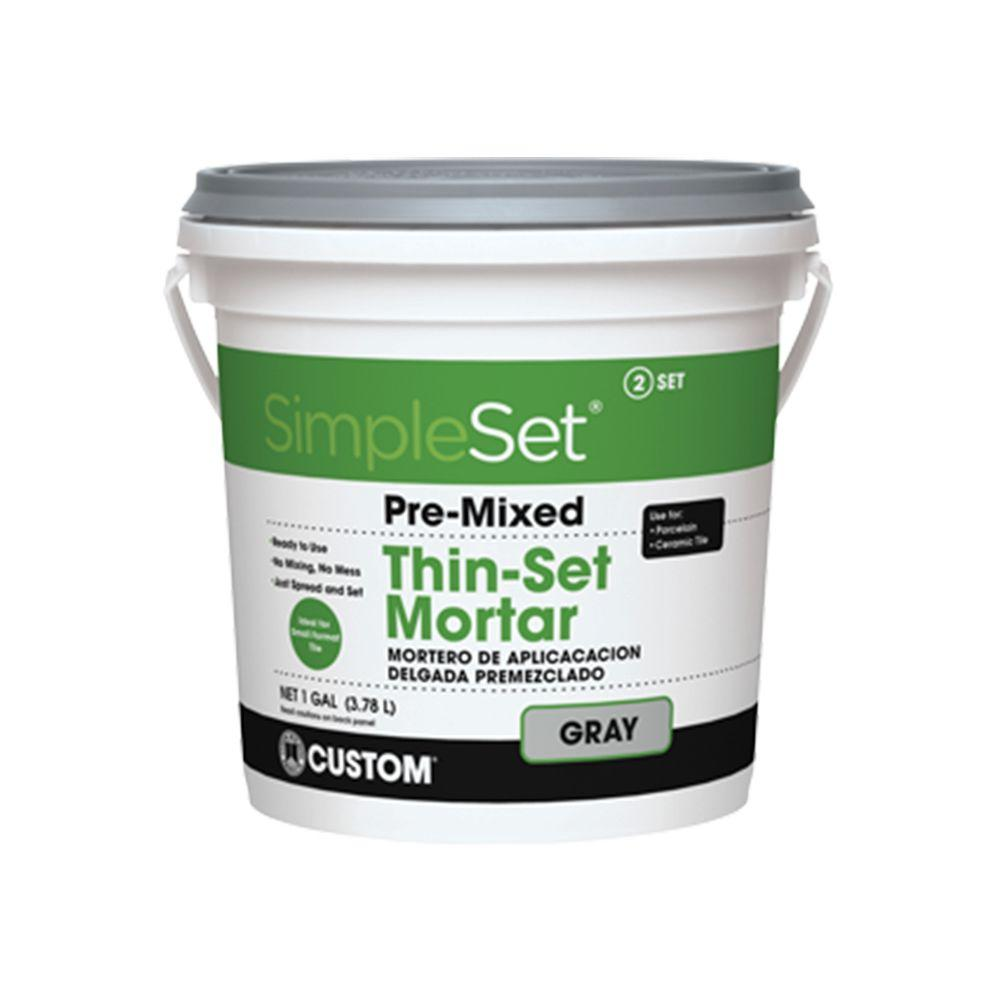 Custom Building Products SimpleSet Gray 1 Gal. Premixed Thin-Set Mortar