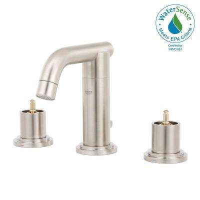 Atrio 8 in. Widespread 2-Handle Bathroom Faucet in Brushed Nickel InfinityFinish (Handles Sold Separately)