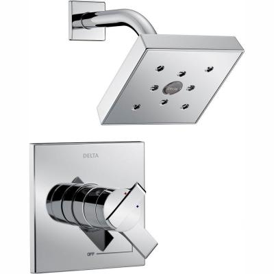 Ara 1-Handle H2Okinetic Shower Faucet Trim Kit in Chrome (Valve Not Included)