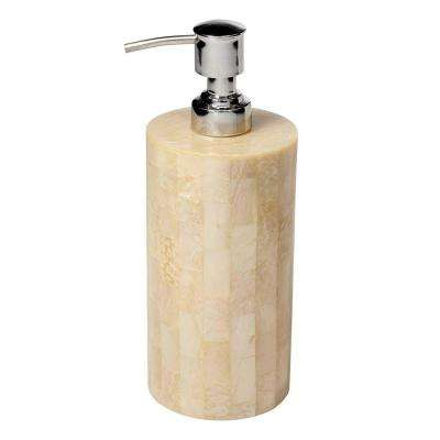 8 in. Lotion Dispenser in Mother of Pearl Tiles