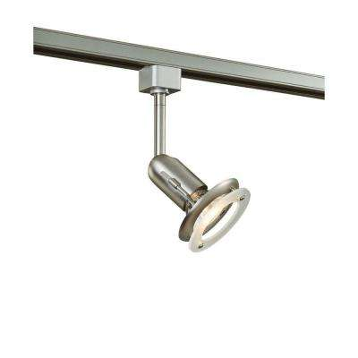 1-Light Brushed Steel Linear Track Lighting Fixture