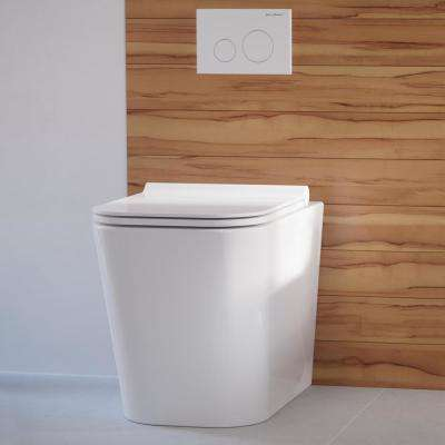 Concorde Back to Wall Elongated Toilet Bowl Only in Glossy White