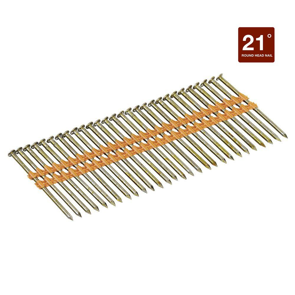 3 in. x 0.131 in. Ring Shank Galvanized Metal Framing Nails