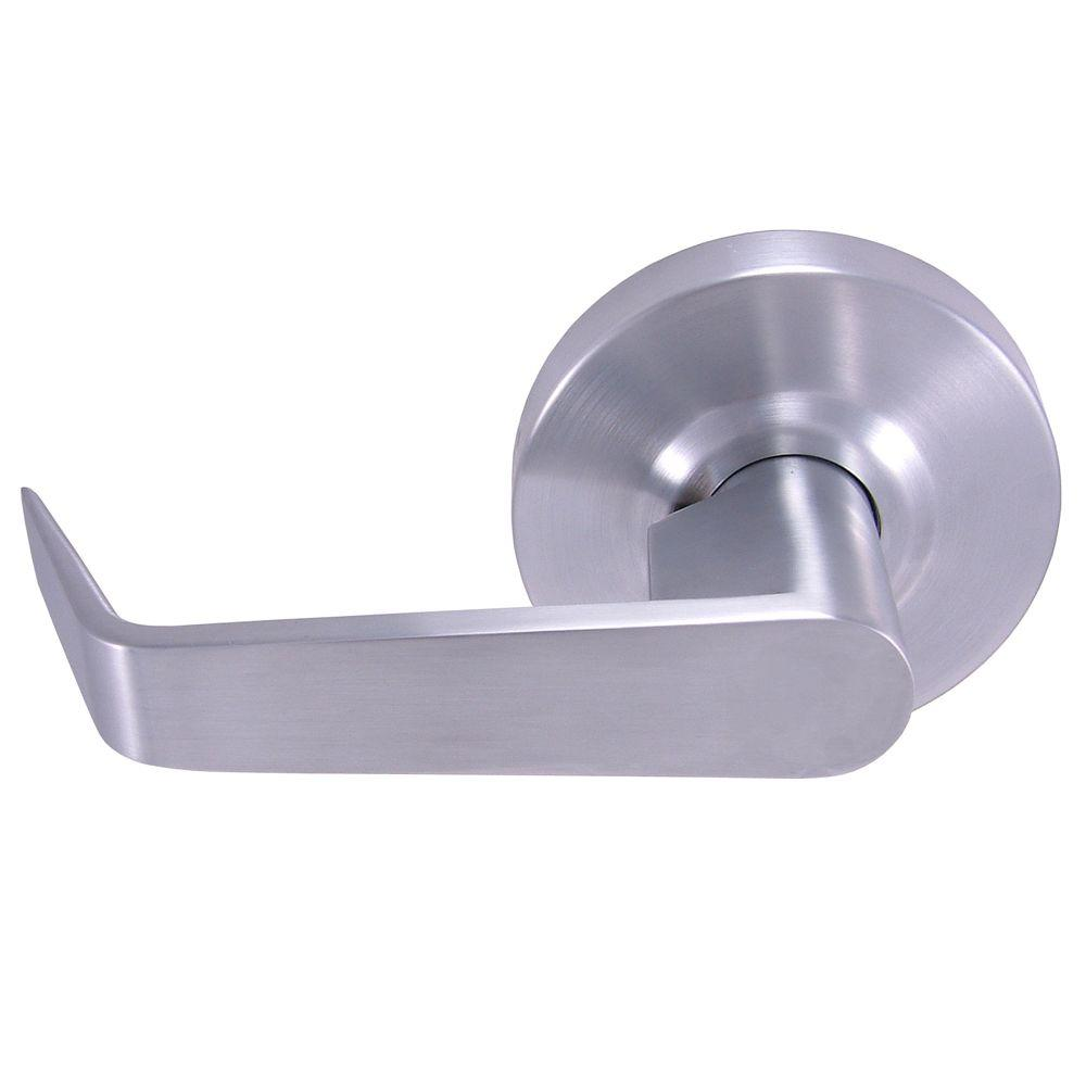 Universal Hardware Commercial/Residential 2-3/4 in. x 2-3/8 in. Satin Chrome Standard Duty Passage Lever