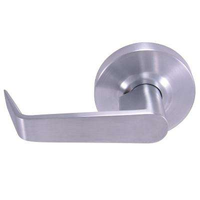 Commercial/Residential 2-3/4 in. x 2-3/8 in. Satin Chrome Standard Duty Passage Lever