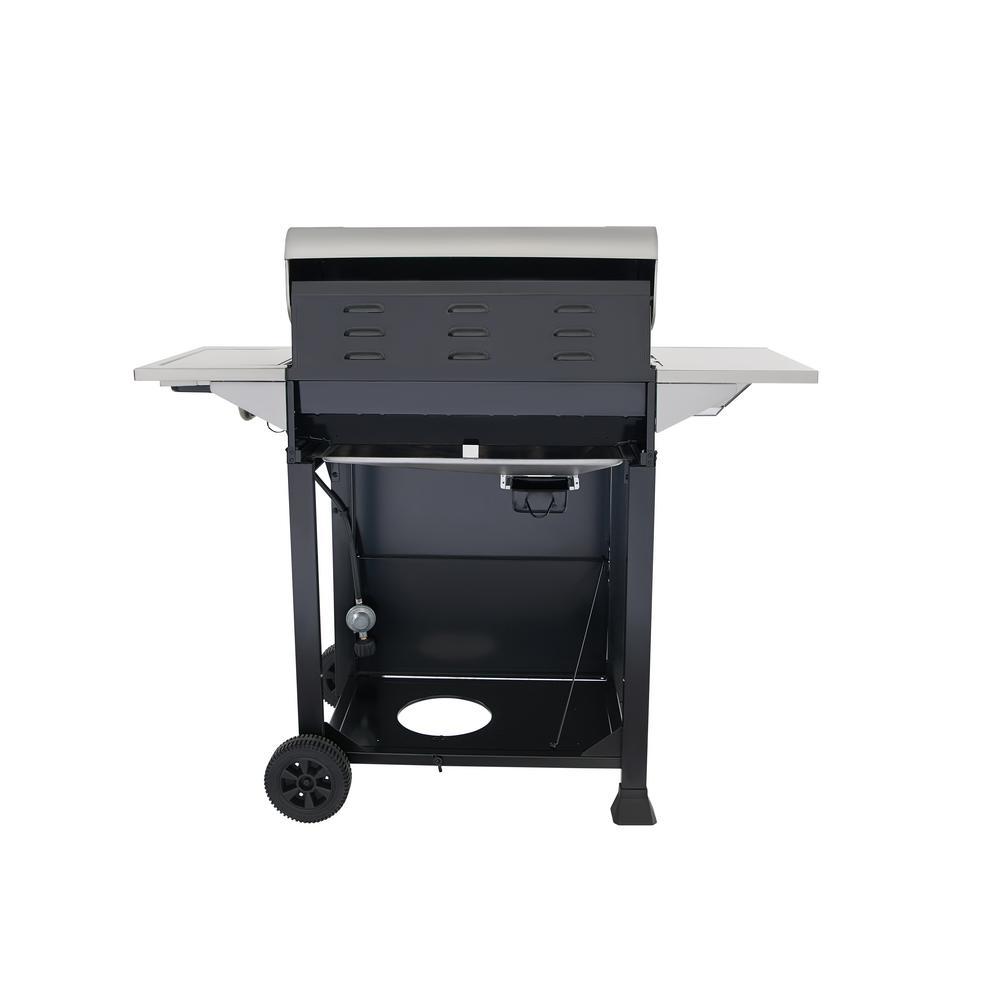 Grill Cabinet: 5-Burner Propane Gas Grill Stainless Steel Side Burner