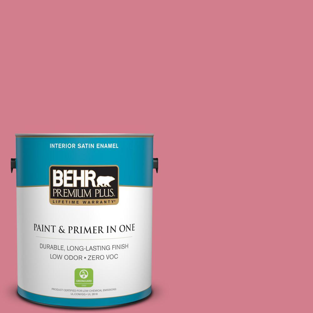 1-gal. #P140-4 I Pink I Can Satin Enamel Interior Paint