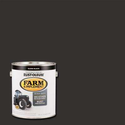 1 gal. Farm and Implement Gloss Black Paint (Case of 2)