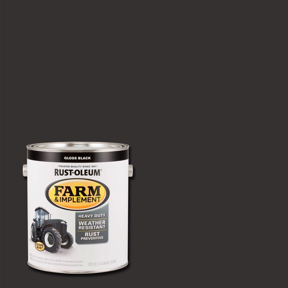 1 gal. Farm Equipment Gloss Black Enamel Paint (2-Pack)