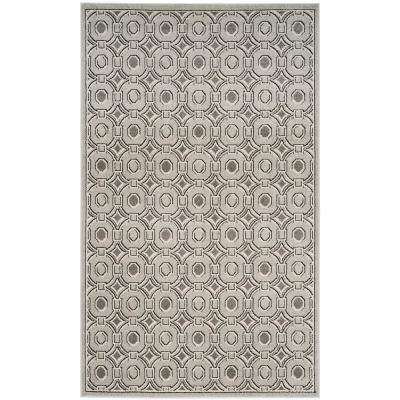 Amherst Light Gray/Ivory 5 ft. x 7 ft. Indoor/Outdoor Area Rug