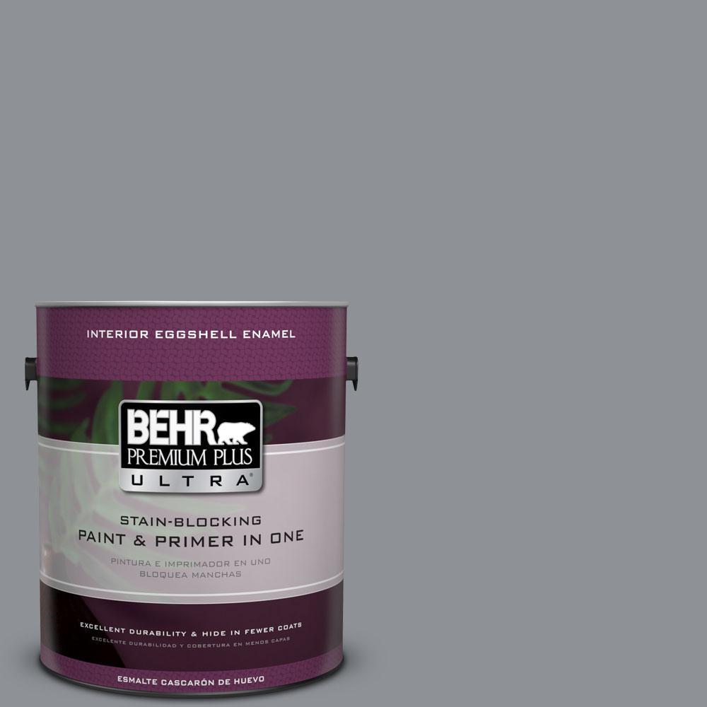 BEHR Premium Plus Ultra 1-gal. #PPU18-4 Dark Pewter Eggshell Enamel Interior Paint