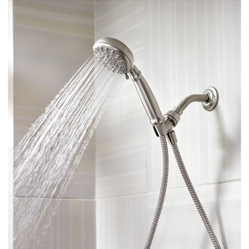 Banbury 5-Spray 4 in. Single Wall Mount Handheld Adjustable Shower Head in Spot Resist Brushed Nickel