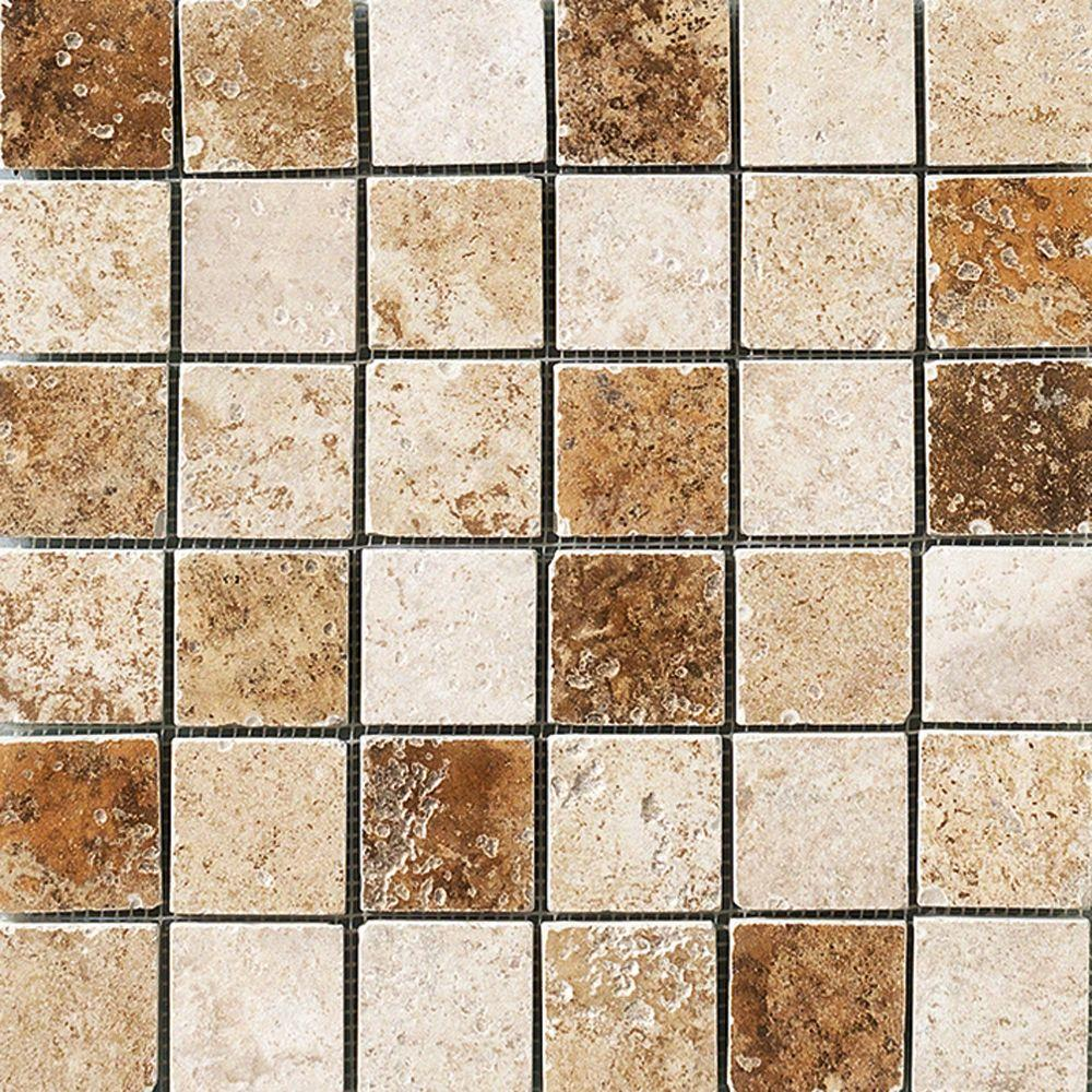 Marazzi Montagna Blended 12 in. x 12 in. x 8 mm Porcelain Mosaic Floor and Wall Tile (1 sq. ft. / piece)