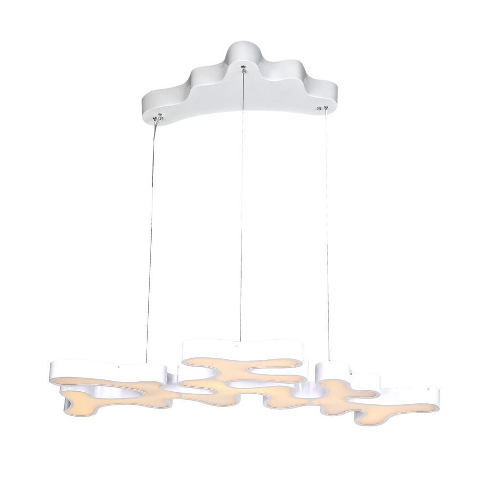 Avenue Lighting 1-Light White LED Ceiling Pendant