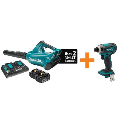 18-Volt X2 Lithium-Ion (120 MPH, 473 CFM) Blower Kit, 5.0Ah with Bonus 18-Volt Lithium-Ion Impact Driver (Tool-Only)