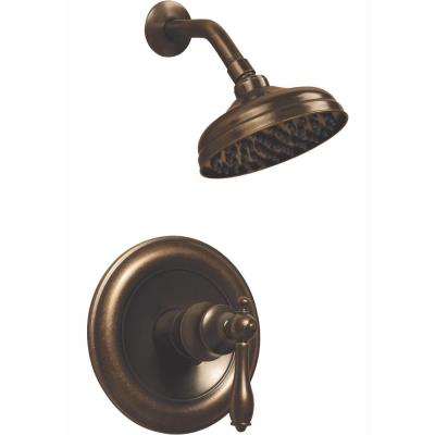 Estates Single-Handle 1-Spray Shower Faucet in Heritage Bronze (Valve Included)