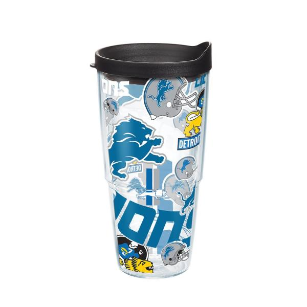 24 Detroit All Tumbler Lid Travel Walled With Over Lions Insulated Nfl OzDouble Nw0PvynOm8