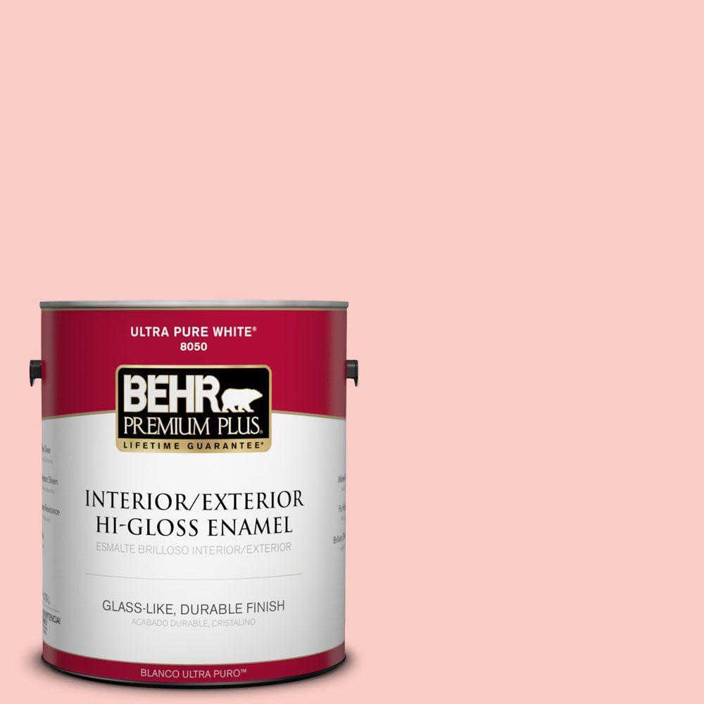 BEHR Premium Plus 1-gal. #170A-2 Strawberry Mousse Hi-Gloss Enamel Interior/Exterior Paint