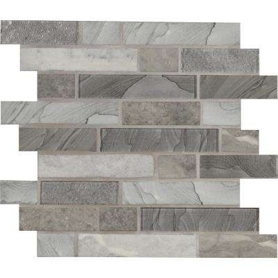Tarvos Interlocking 11.81 in. x 11.81 in. x 6 mm Glass Mesh-Mounted Mosaic Tile (0.97 sq. ft.)