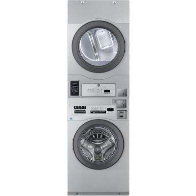 Commercial 27 in. Grey Laundry Center with 3.5 cu. ft. Washer and 7 cu. ft. Gas Dryer