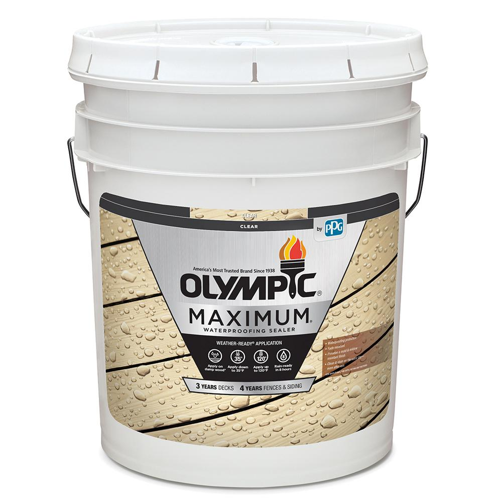 Olympic Maximum 5 Gal. Clear Exterior Waterproofing Sealant Low VOC