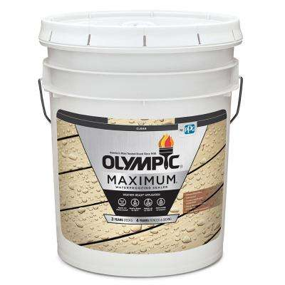 Maximum 5 Gal. Clear Exterior Waterproofing Sealant Low VOC