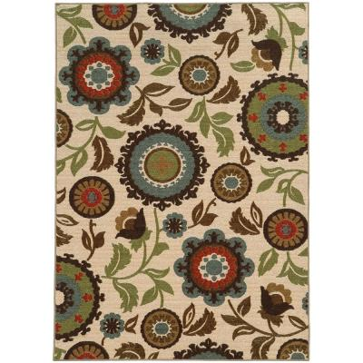 Seabrook Tan 5 ft. x 7 ft. Area Rug