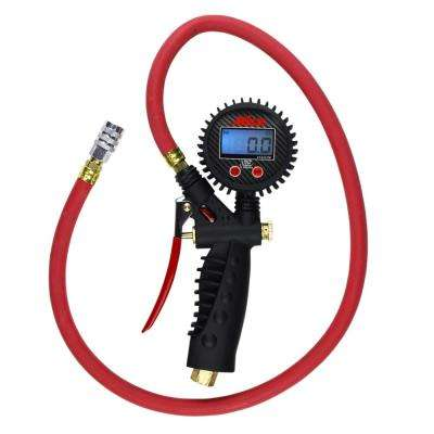 Pro Digital Pistol Grip Inflator Gauge with 36 in. Hose and Kwik Grip Safety Chuck
