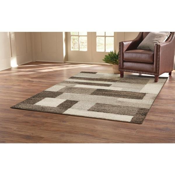 Asher Brown 8 Ft X 10 Area Rug