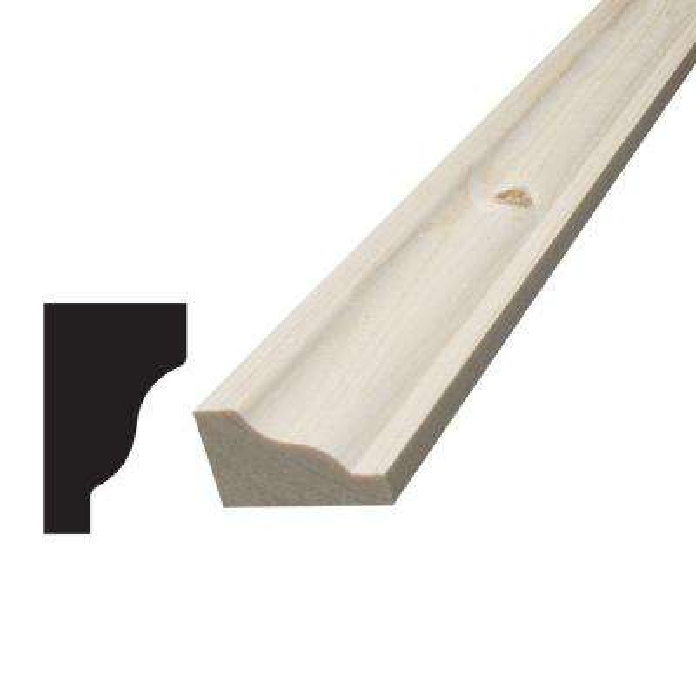 3/4 in. x 1-1/4 in. x 96 in. Knotty Pine Panel Cap Moulding