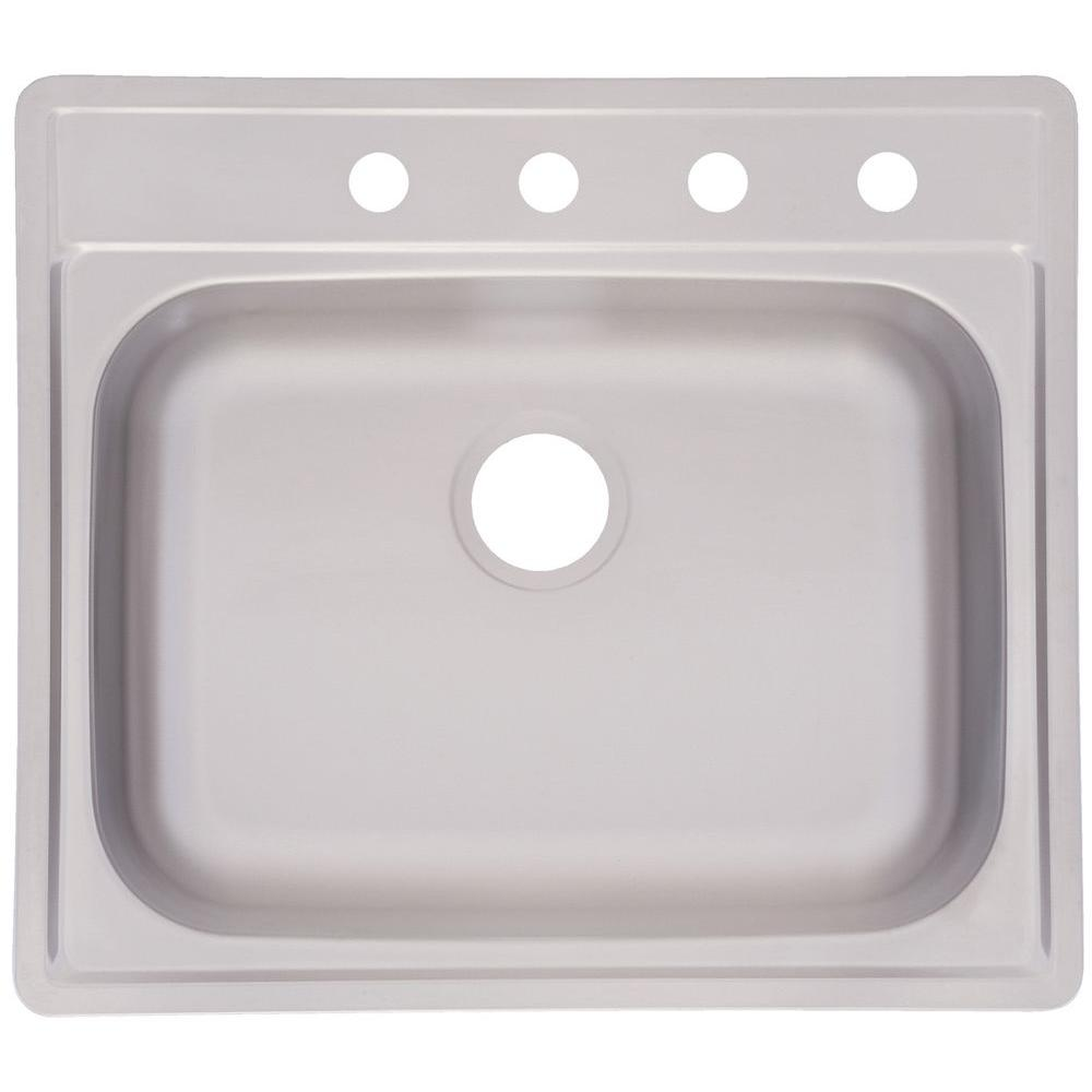 kitchen single bowl sinks frankeusa fhp drop in satin stainless steel 25 in 4 5610