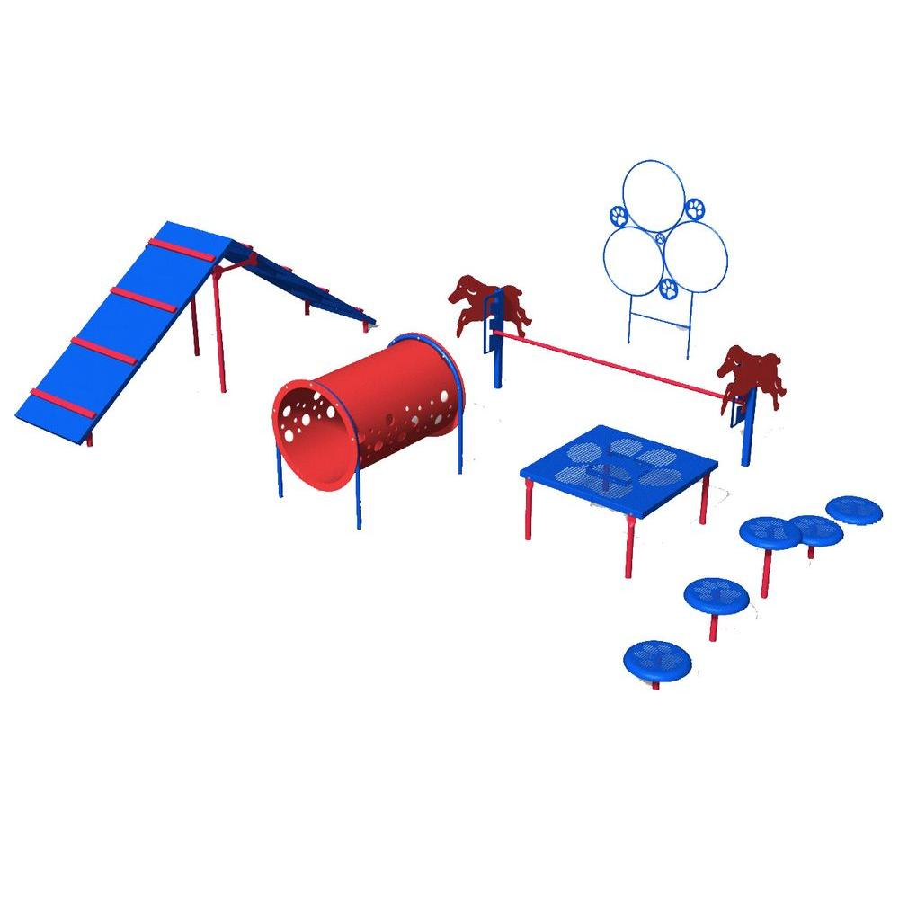Ultra Play Playful Colors Dog Park Commercial Intermediate Course