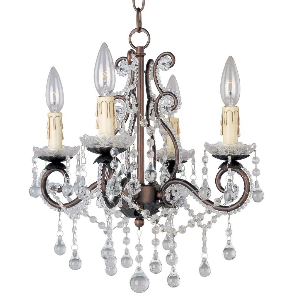 Maxim Lighting Katherine 4-Light Oil-Rubbed Bronze Mini Chandelier