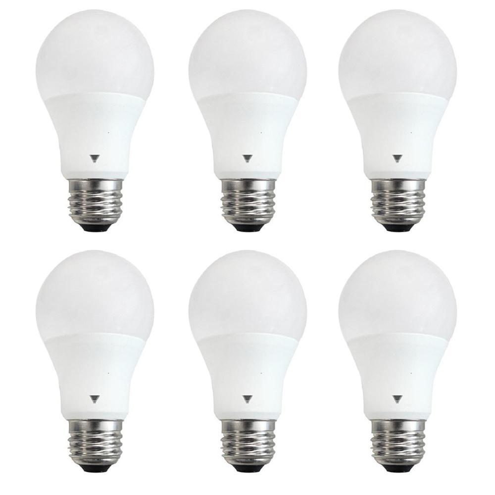 60 Watt Equivalent A19 Led Light Bulb E26 Base 800 Lumen Cool White 4100k 6 Pack