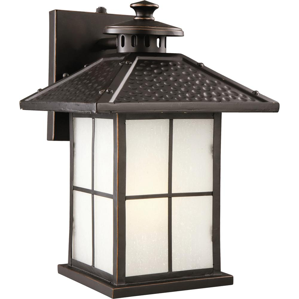 Design house gladstone oil rubbed bronze fluorescent outdoor wall lantern sconce