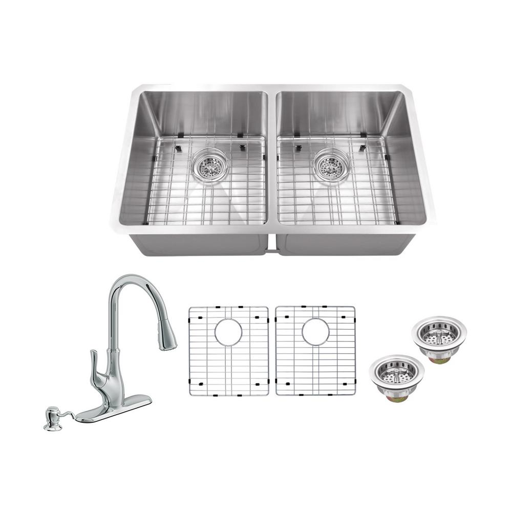 Schon All In One Undermount Stainless Steel 32 In 0 Hole