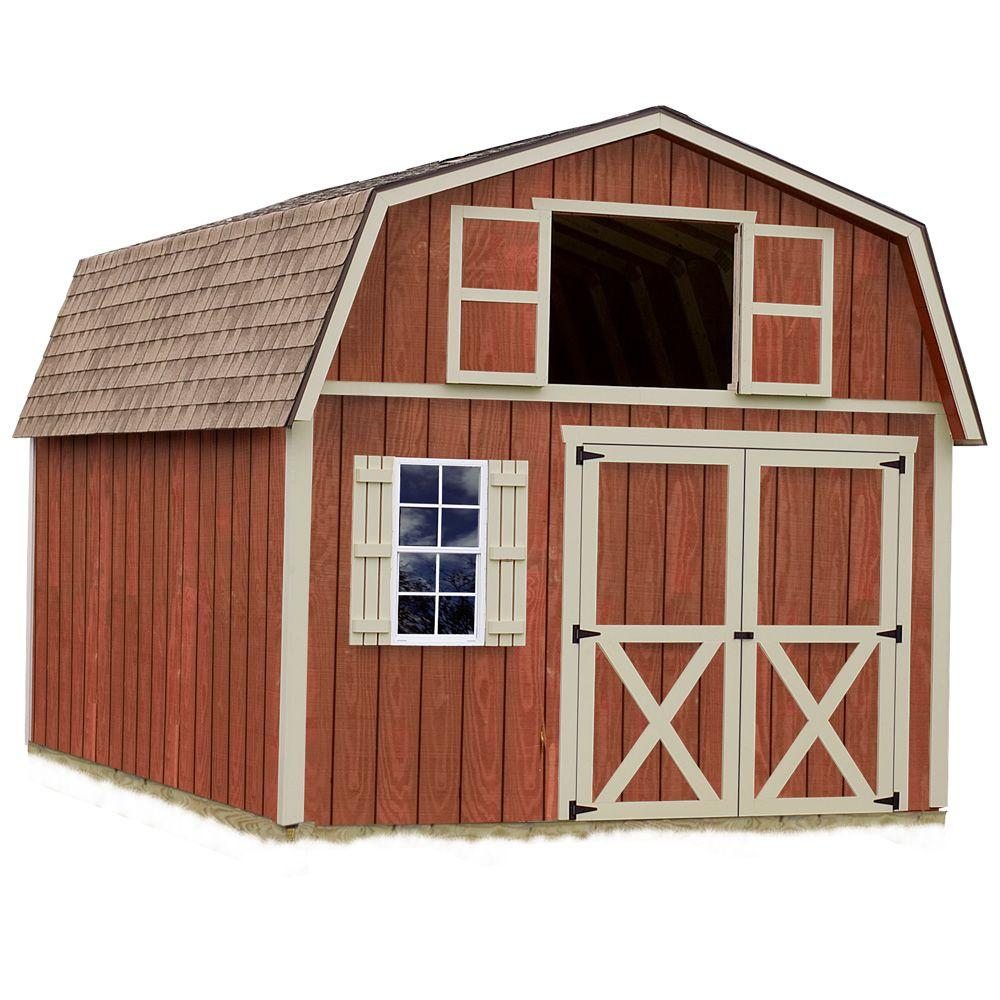 wood shed kits best barns millcreek 12 ft x 20 ft wood storage shed kit 10580
